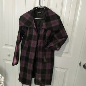 Lovestitch trench style jacket plaid